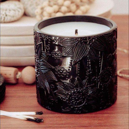 Black Lotus soy Candles- Black Raspberry